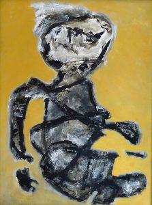 ROI UBU, 2019. 120 x 90 cm, acryllic paint on cardboard