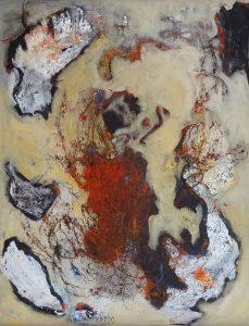 THE FISHGODS OF DUNDRUM, 2020. 100 x 80 cm, acryllic paint on canvas