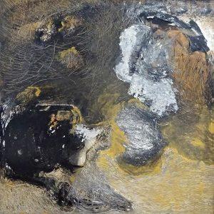 ADVENTURES OF A MOLE, 2019. 100 x 100 cm, acryllic paint on canvas