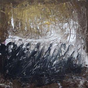 SIDE TRACKS, 2020. 100 x 100 cm, acryllic paint on canvas