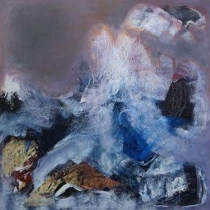 WAVESPREACH, 2020. 100 x 100 cm, acryllic paint on canvas