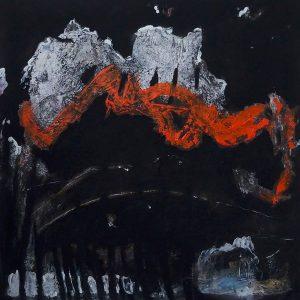 LAST NIGHT, 2020. 100 x 100 cm, acryllic paint on canvas