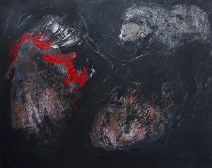 NIGHTFALL, 2020. 80 x 100 cm, acryllic paint on canvas